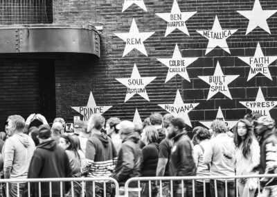 People Gathering Near Prince's Star at First Avenue