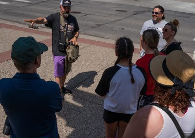 Our tour guide pointing out something really cool